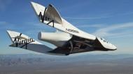 """Abgestürzt: Das """"SpaceShip Two"""" bei einem Testflug im Oktober 2010"""