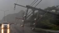 Taifun Meranti legt Süden Taiwans lahm
