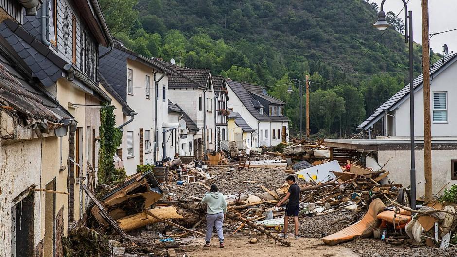 Nach dem Hochwasser: Altenahr-Kreuzberg am 15. Juli 2021