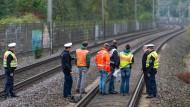 Drei Menschen von Güterzug überrollt