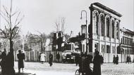 Börneplatz in Frankfurt nach Kriegsende und heute
