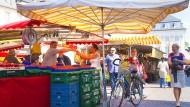 Irgendwie großstädtisch und irgendwie provinziell: Marktplatz im Zentrum von Bonn