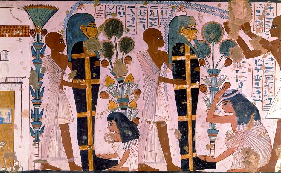 Beerdigungsszene aus dem Grab von Nebamun und Ipuky aus der Zeit des Neuen Reichs