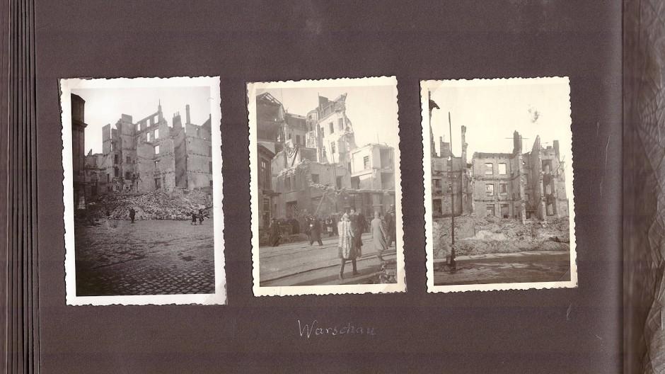 Warschau in Trümmern: Bilder aus dem Album von Kurt Riemer<QM>