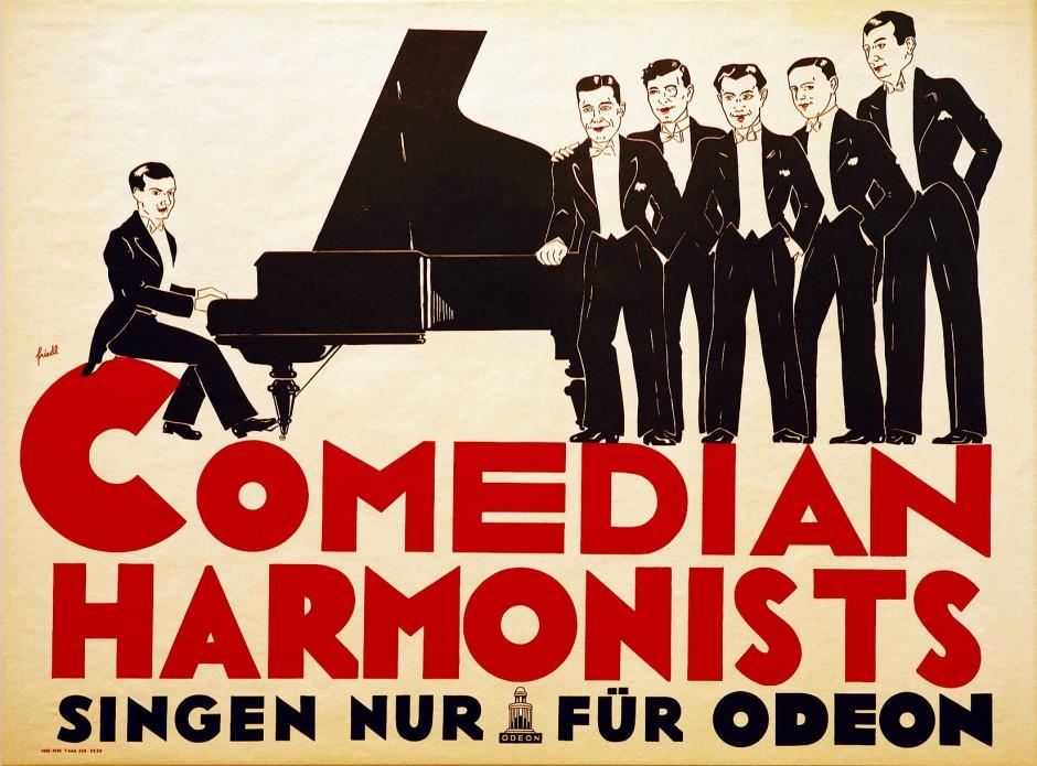 Werbeposter für das Sextett aus der Zeit vor 1929