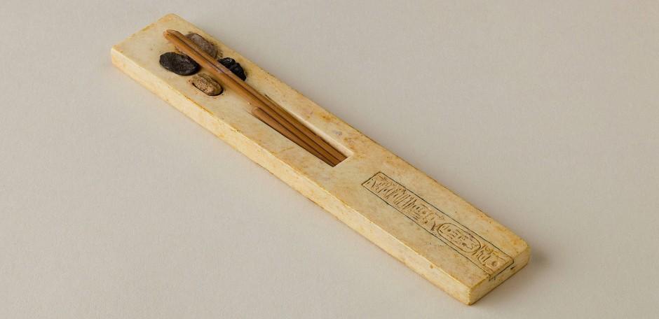 Schreibset der Prinzessin Meketaten, Tochter von Echnaton und Nofretete, um 1350 vor Christus