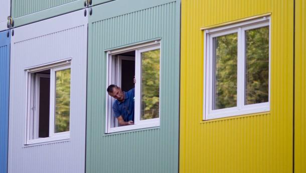 Wohncontainer-Unterkunft für Flüchtlinge in Berlin