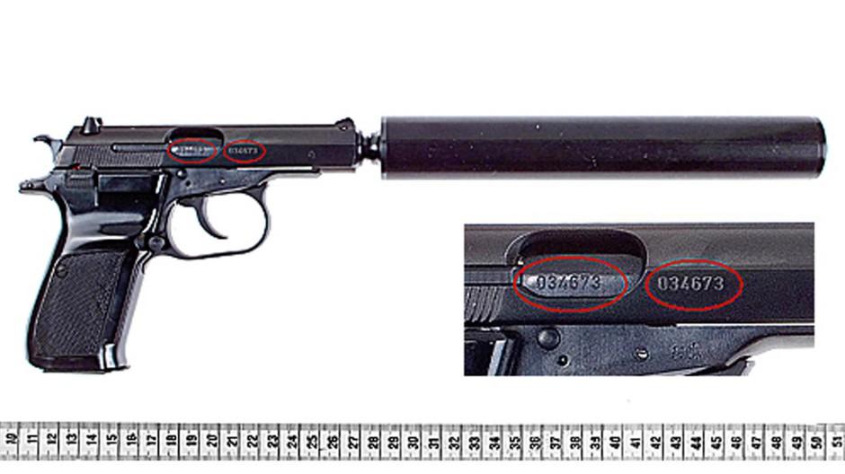 "Pistole Ceska, Modell 83, Kaliber 7,65 Millimeter ""Browning"" des tschechischen Herstellers Ceska Zbrojovka"