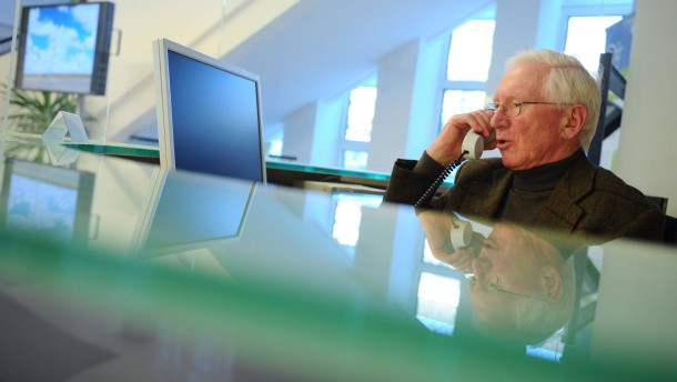 Unternehmen auf dem Weg zur Überalterung