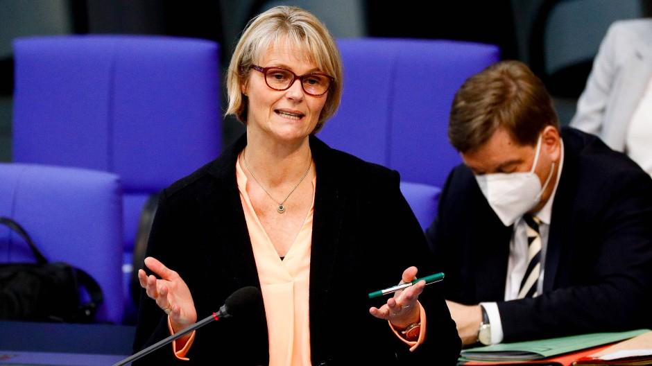 Bildungsministerin Anja Karliczek am Mittwoch vor dem Deutschen Bundestag
