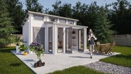 Gartenhäuser kann man auch im Internet kaufen