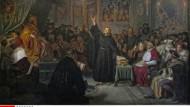 Luther mit Himmelsblick: Ölgemälde von Hermann Freihold Plüddemann.