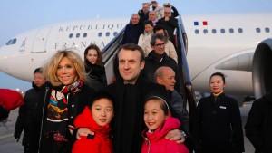 """Macron will an Chinas """"neuer Seidenstraße"""" kräftig mitbauen"""