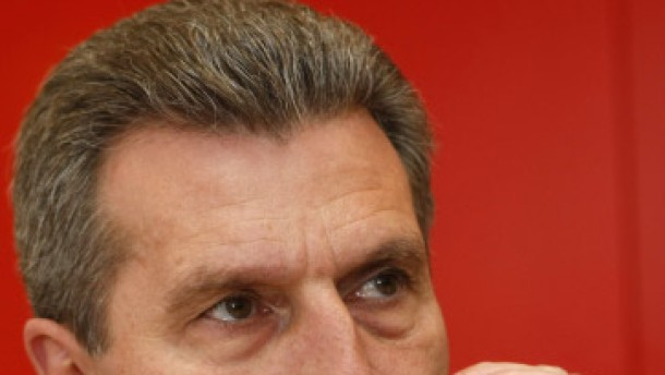 Kein Gegenwind für Oettinger