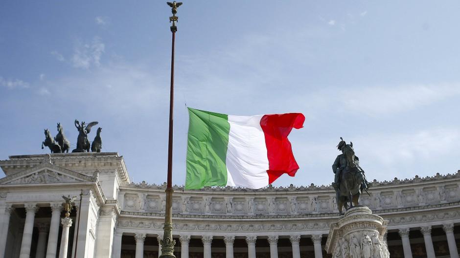 Trauer in Rom: Gedenken an die Opfer der Covid-19-Pandemie in Italien.