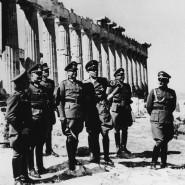 Generalfeldmarschall Walther von Brauchitsch (4.v.l.) besichtigt die Akropolis nach der Eroberung Griechenlands durch die Wehrmacht im April 1941.