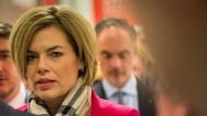 In der Stunde der schwersten politischen Niederlage: Julia Klöckner am 13. März 2016 im Mainzer Landtag