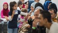 """Asylbewerber im Gießener """"Ankunftszentrum für Flüchtlinge"""" (Archivbild)"""