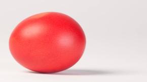 Ostereier - - Fotoillustration  zu Ostern gefärbte Eier.