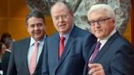 Sozialdemokratisches Dreigestirn: Gabriel, Steinbrück und Steinmeier (von links)