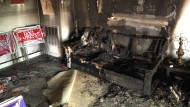 Das Büro der Republikaner in Hillsborough ist komplett zerstört.