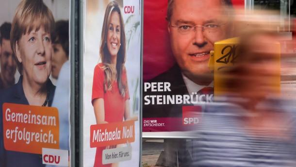 Wahlplakate im Wahlkreis von Peer Steinbrück