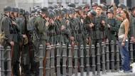 Gibt's nur noch im Kino: Wehrmachtssoldaten bei Film-Dreharbeiten 2007 in Berlin