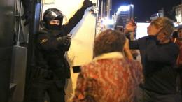 Lukaschenka lässt Wasserwerfer gegen Demonstranten auffahren