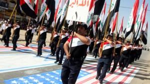 Parade von Sadr-Anhängern