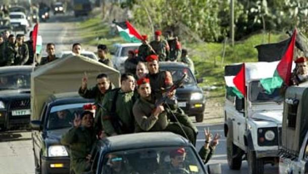 Palästinensische Polizei im Gazastreifen stationiert