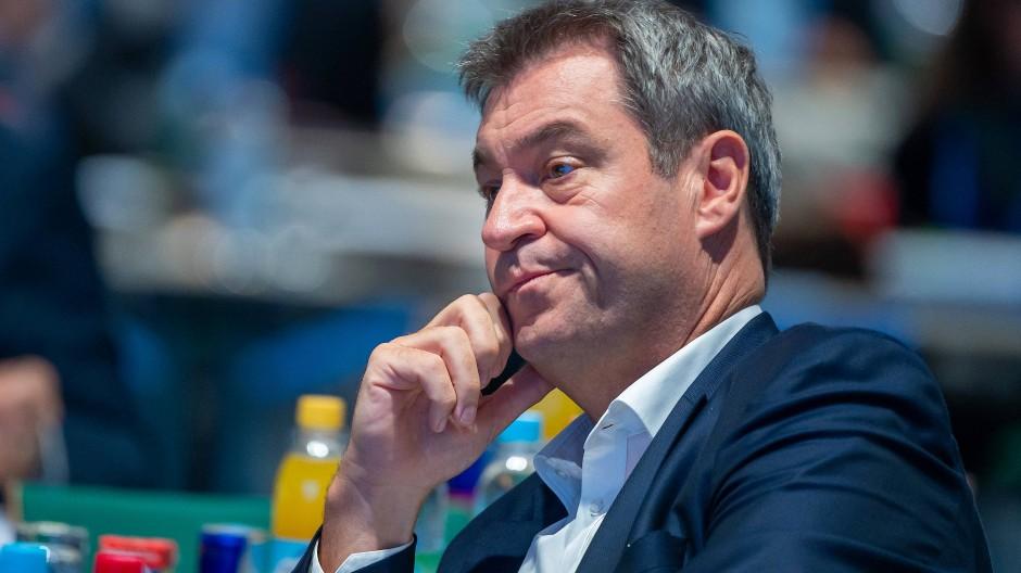 Markus Söder am Samstag auf dem Parteitag der CSU in Nürnberg.