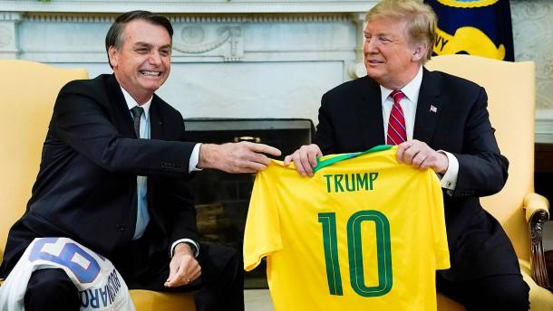 """Trump und Bolsonaro """"Seite an Seite"""""""