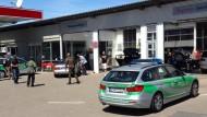 An dieser Tankstelle in Bad Windsheim konnte der mutmaßliche Schütze überwältigt werden.