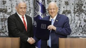 Netanjahu strebt weiter Einheitsregierung an
