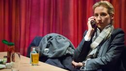 AfD-Spitzenkandidatin Weidel plötzlich kleinlaut