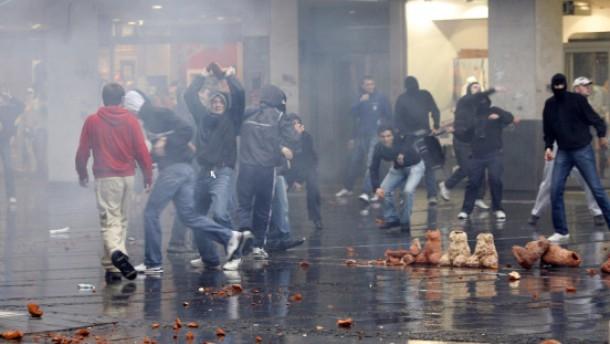 Nationalisten randalieren in Belgrad