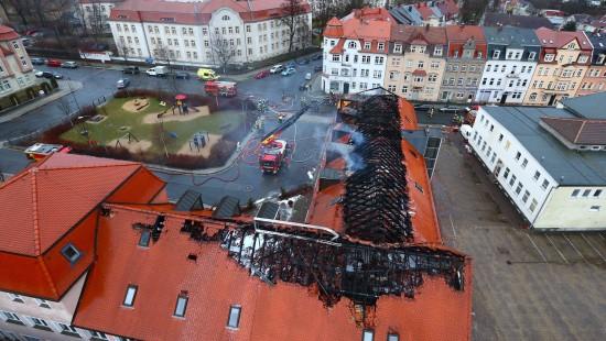 Brand in geplanter Flüchtlingsunterkunft