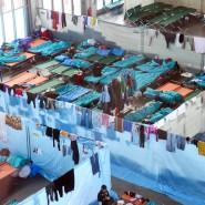 Überlastete Kommunen: Eine Notunterkunft in Bruchsal
