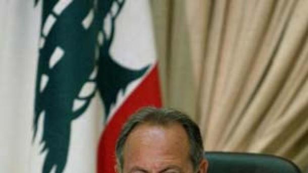 Lahoud lehnt Beschluß ab