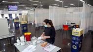 Impfvorbereitungen im Sheba Tel Hashomer Medical Center in Ramat Gan