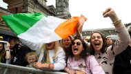 Irische Frauen feiern in Dublin das Votum zum Abtreibungsrecht.