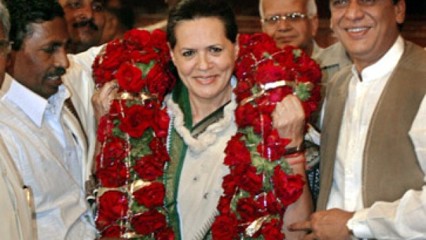 Sonia Gandhi Kandidatin fürs Regierungsamt