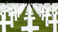 Der Soldatenfriedhof bei Ohmaha Beach