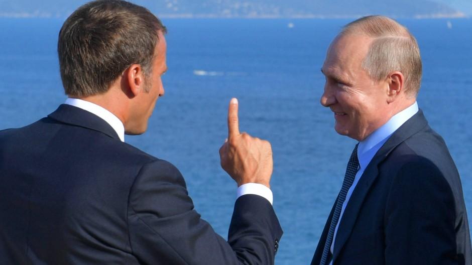 Im August empfing Macron Putin an der Côte d'Azur