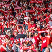 Risikospiel: Union-Fans ohne Masken und Abstand im September zum Bundesligauftakt gegen Augsburg.