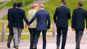 Russland aus G8 suspendiert