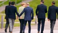 Eingerahmt von Demokraten: Putin auf dem G8-Gipfel 2013 in Nordirland