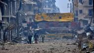 Trümmerwüste Aleppo
