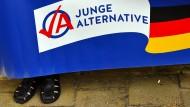 Plakat der AfD-Jugendorganisation Junge Alternative (JA)