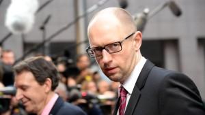 Jazenjuk will Energielieferungen aus der EU